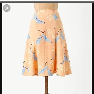 Anthropologie Meadow Rue Native Birds skirt, 12
